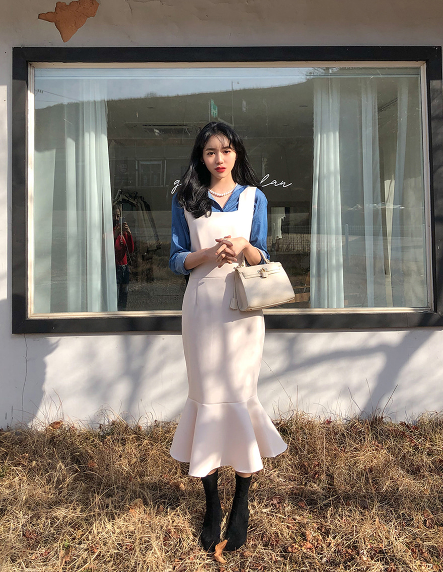 달리호텔 / Mermaid Hem Midi Dress