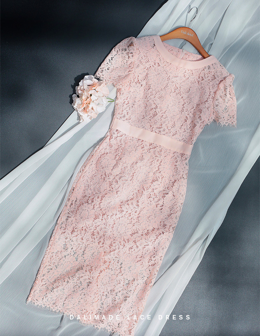 달리호텔 / Valentine Blush Pink Lace Dress