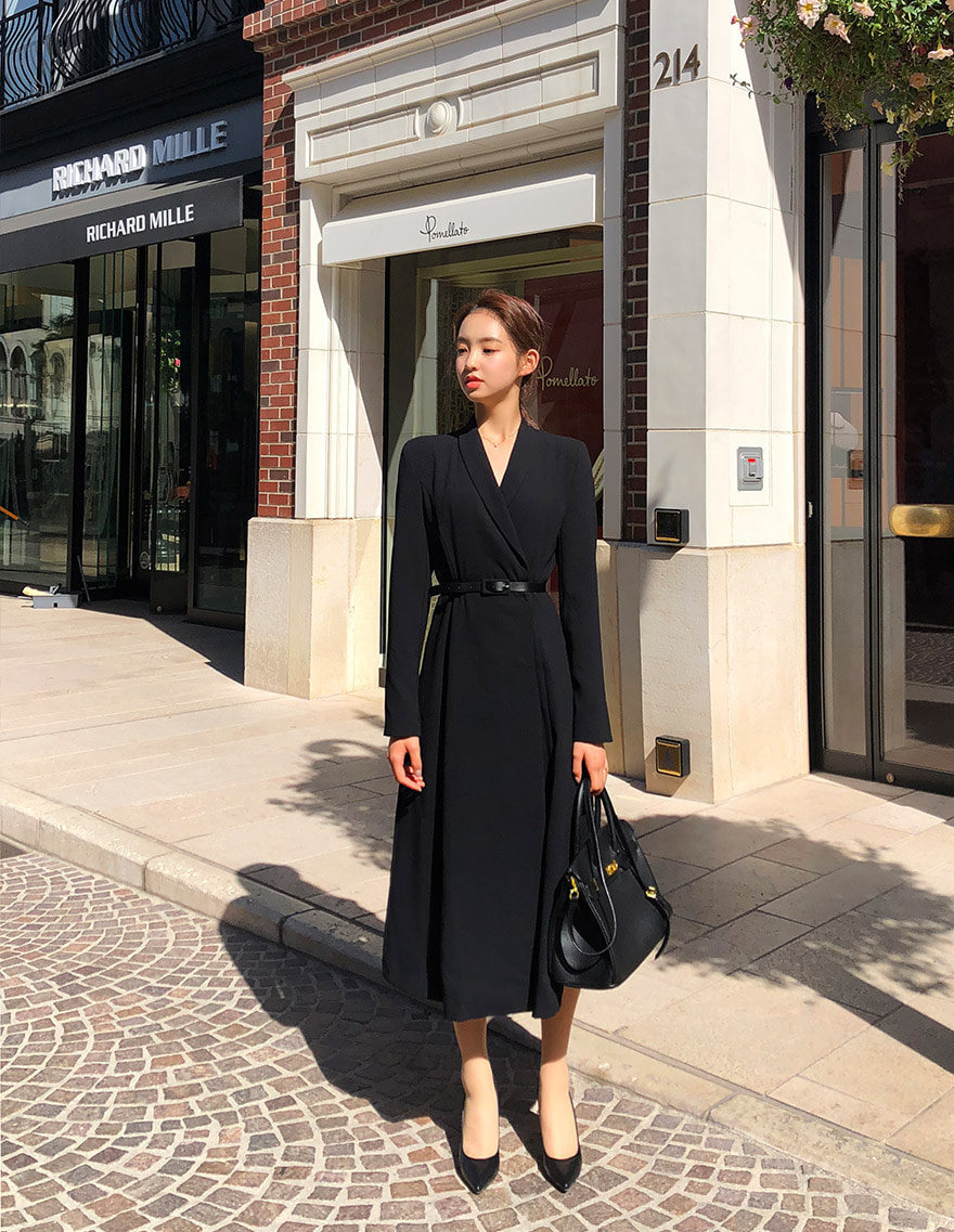 달리호텔 / Hera Shawl Collar Jacket Dress