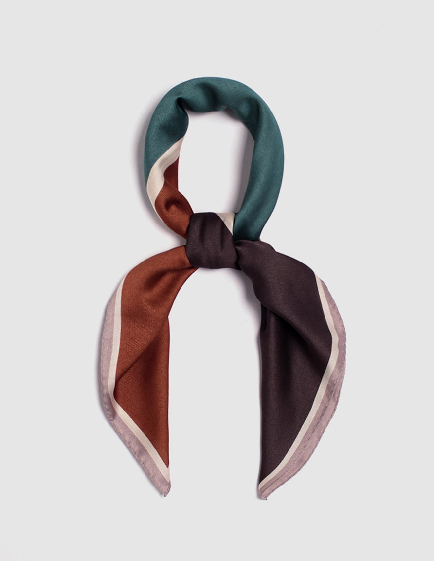 달리호텔 / Twill Color Block Scarf