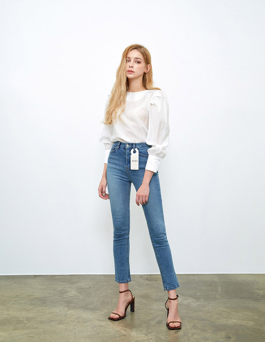 달리호텔 / DALIJEANS High-rise Skinny BLUE_H62346