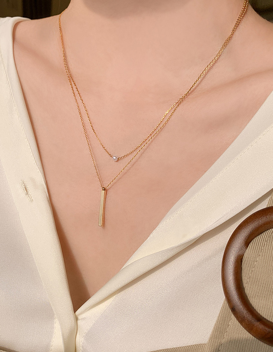 달리호텔 / Mini Pearl Skinny Necklace_H63034