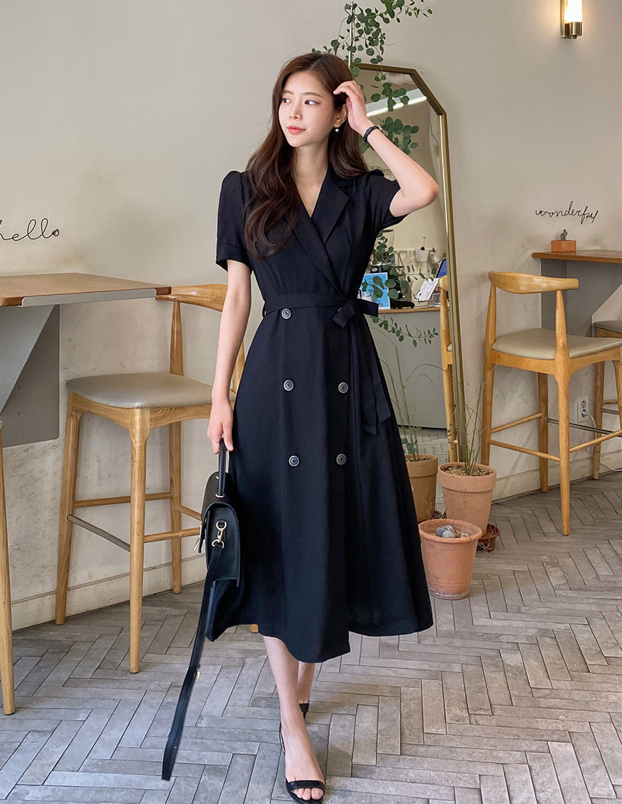 달리호텔 / Smith Collar Flare Dress_H64821
