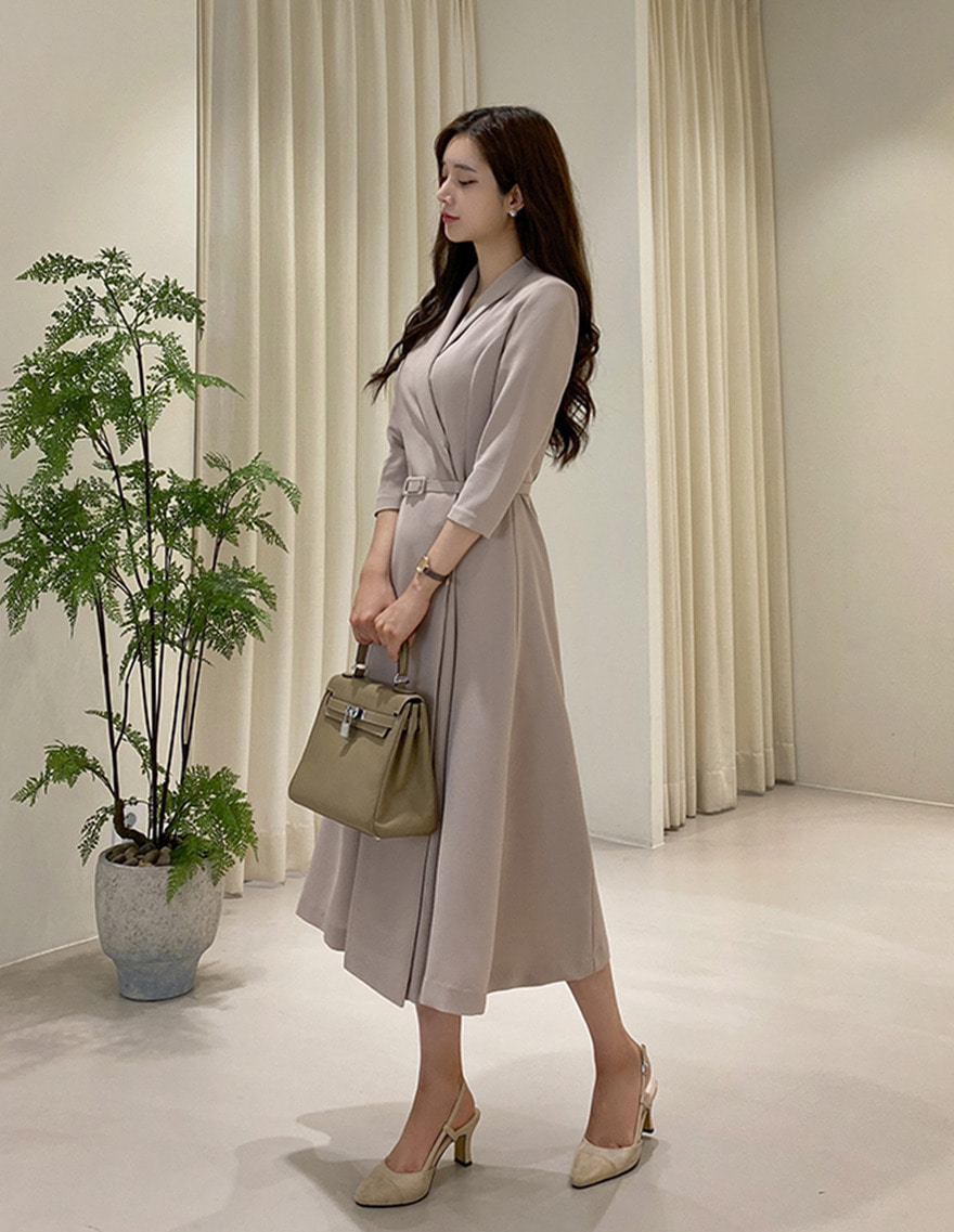 달리호텔 / Hera Shawl Collar Jacket Dress MOCHA_H65069