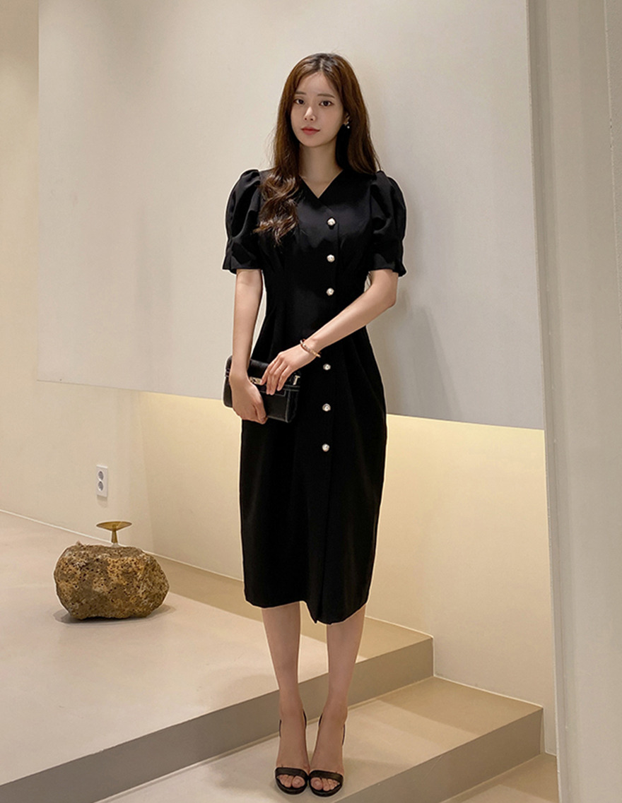 달리호텔 / Kate Side Button Dress_H65058