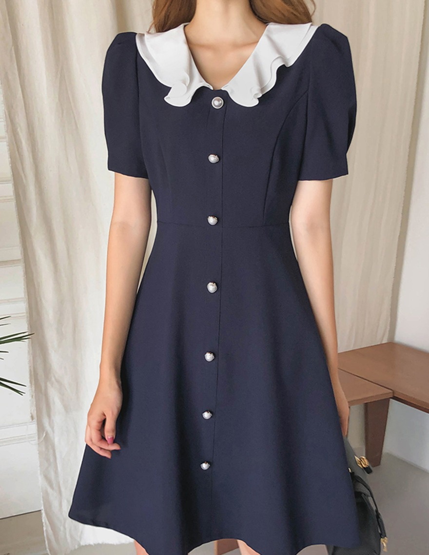 달리호텔 / Ruffled Collar Dress_H65569