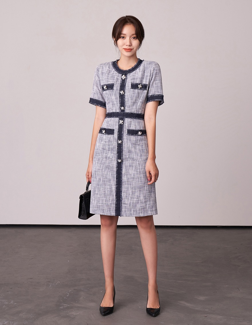 달리호텔 / Grande Tweed Pocket Dress_H65701