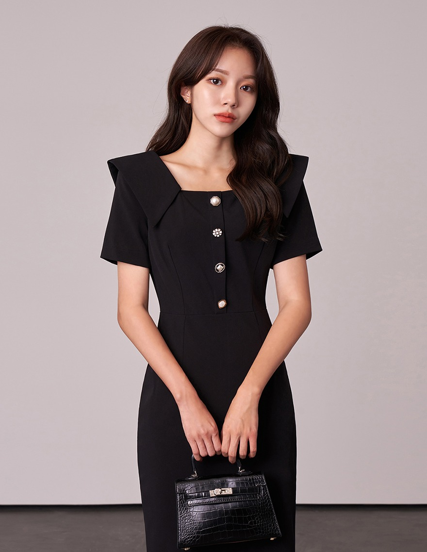 달리호텔 / Hazelle Four Button Dress_H65714