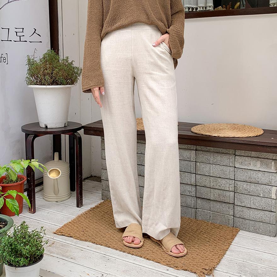 [CHUU] Linen Wide Pants
