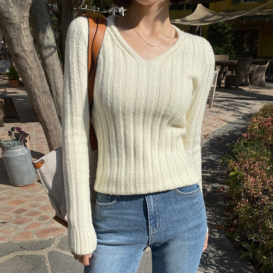 While You Were Sleeping Ribbed Knit Top_DLKL20T013