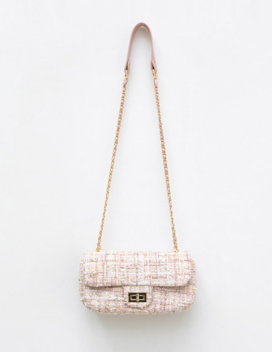 Tweed Crossbody Bag, 달리호텔