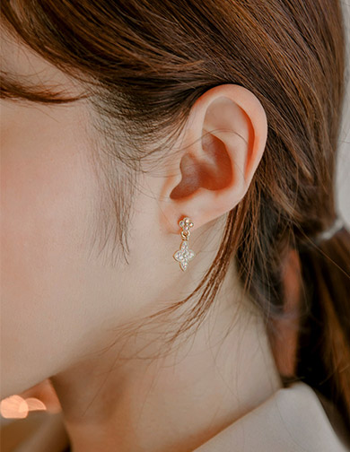 [CHUU]Small Antique Drop Earring