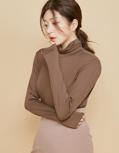 달리호텔 / Tencel Turtleneck Tee
