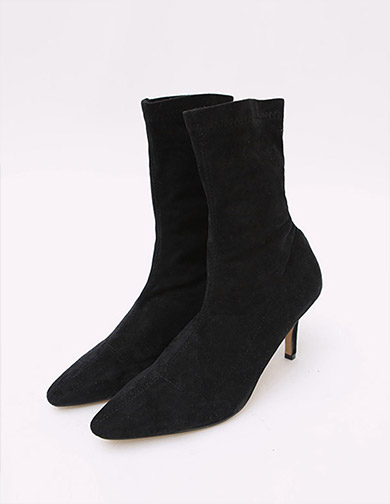 Suede Ankle Boots 7cm, 달리호텔