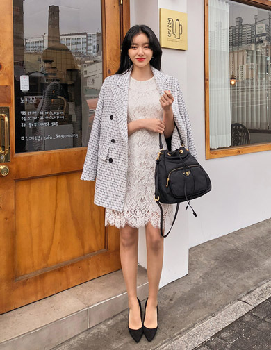 달리호텔 / Double Button Tweed Jacket