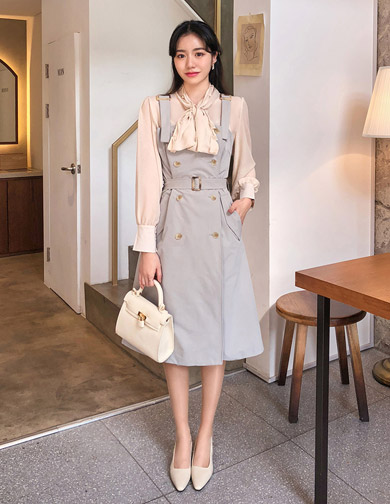달리호텔 / Belted Overall Dress