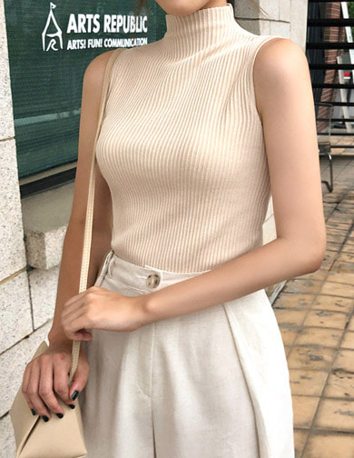 [CHUU] Sleeveless Knit Top