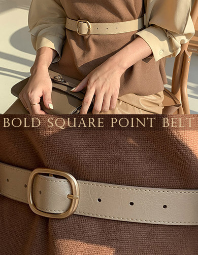달리호텔 / Bold Square Point Belt_H61862