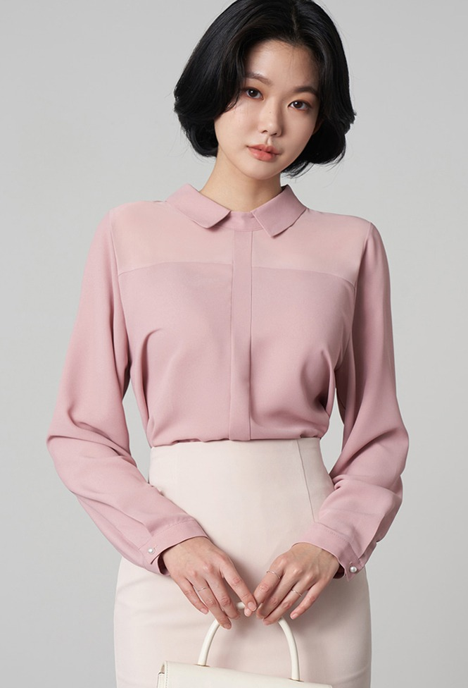 달리호텔 / Sheer Point Collar Blouse_H65843