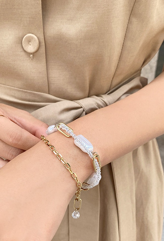 달리호텔 / Pearl Chain Layered Bracelet_H65200