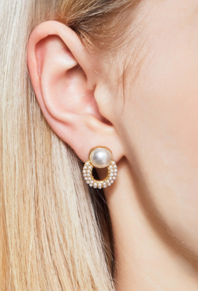 달리호텔 / Ellipse Wreath Pearl Earring_H61900